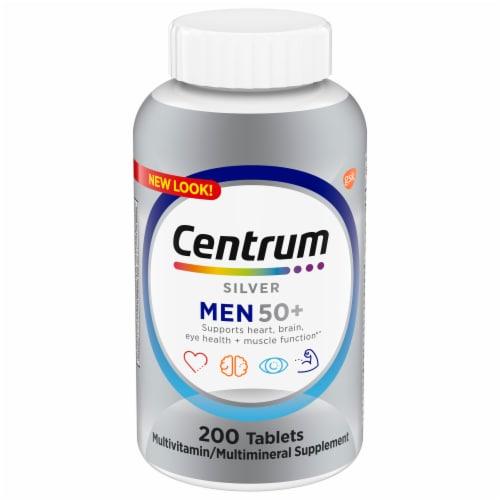 Centrum Silver Men 50+ Multivitamin/Multimineral Supplement Tablets Perspective: front