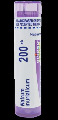 Boiron Natrum Muriaticum 200Ck Pellets Perspective: front