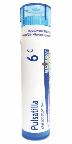 Boiron Pulsatilla 6c Homeopathic Medicine Perspective: front