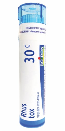 Boiron Rhus Toxicodendron 30c Homeopathic Medicine Perspective: front