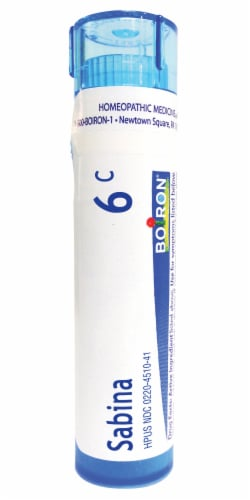 Boiron Sabina 6c Homeopathic Medicine Perspective: front