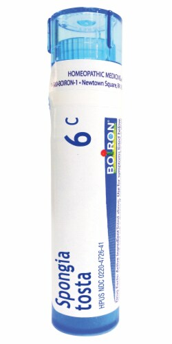 Boiron Spongia Tosta 6c Homeopathic Medicine Perspective: front
