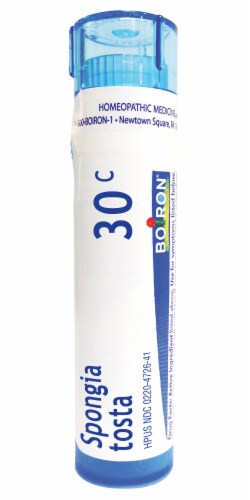 Boiron Spongia Tosta 30c Homeopathic Medicine Perspective: front