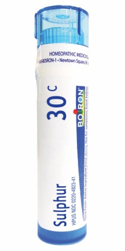 Boiron Sulphur 30c Homeopathic Medicine Perspective: front