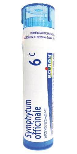 Boiron Symphytum Officinale 6c Homeopathic Medicine Perspective: front