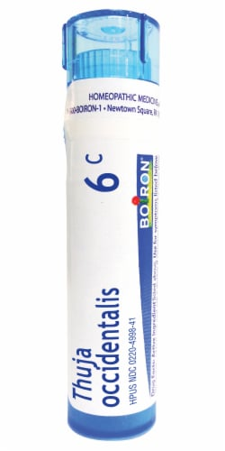 Boiron Thuja Occidentalis 6c Homeopathic Medicine Perspective: front