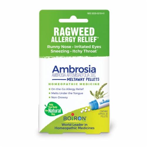 Boiron Ambrosia Artemisiaefolia 30C Ragweed Allergy Relief Pellets Perspective: front