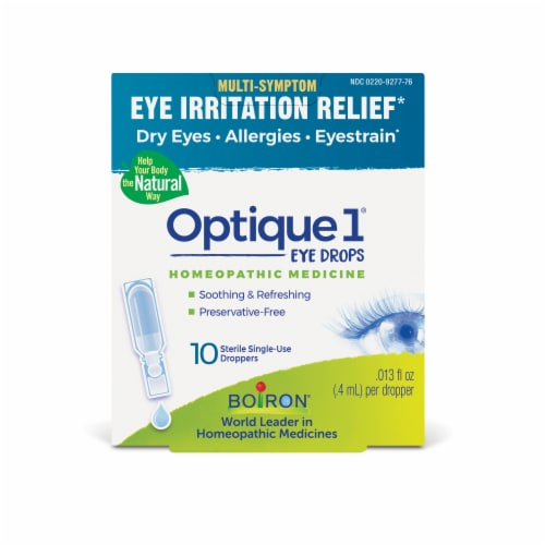 Boiron Optique 1 Eye Irritation Refief Eye Drops Perspective: front