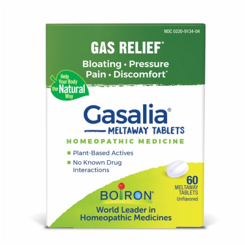 Boiron Gasalia Gas Relief Tablets Perspective: front