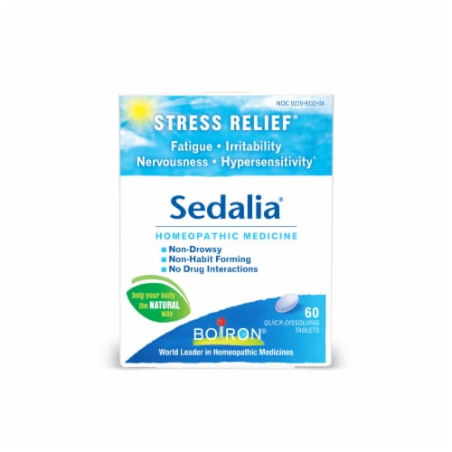 Boiron Sedalia Stress Relief Tablets Perspective: front