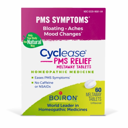 Boiron Cyclease PMS Tablets 60 Count Perspective: front