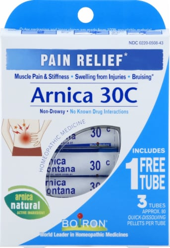 Boiron Arnica 30C Pain Relief Pellets Perspective: front