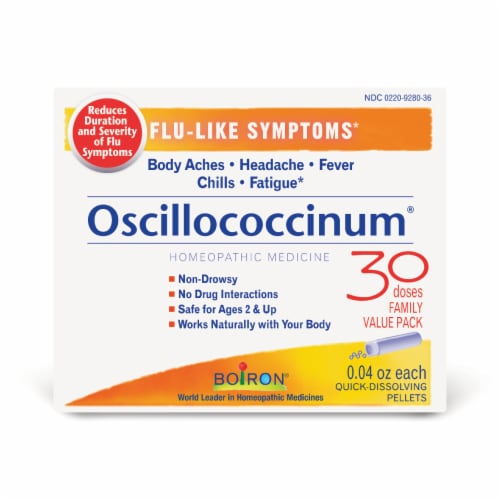 Boiron Oscillococcinum Homeopathic Medicine Perspective: front