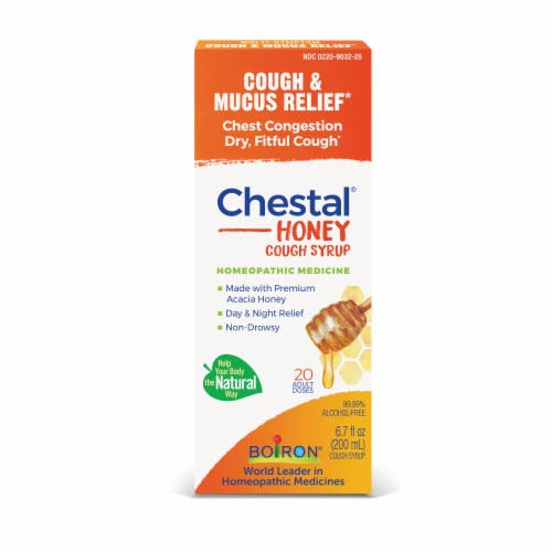 Boiron Chestal Honey Cough & Chest Congestion Syrup Perspective: front