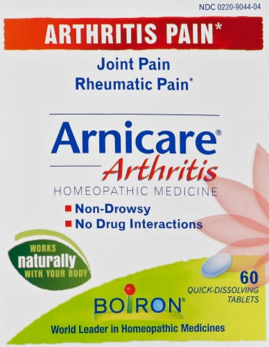 Boiron Arnicare Arthritis Homeopathic Tablets Perspective: front