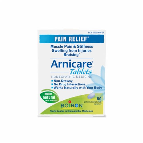 Boiron Homeopathic Arnicare Pain Relief Tablets Perspective: front