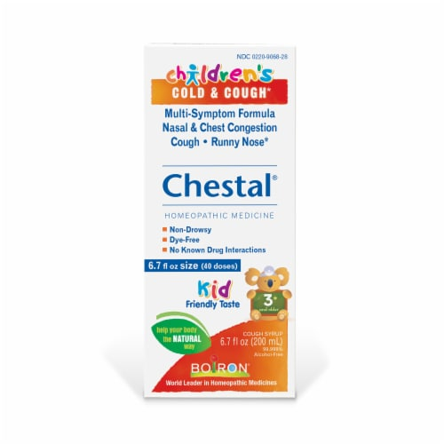 Boiron Chestal Children's Cold & Cough Syrup Perspective: front