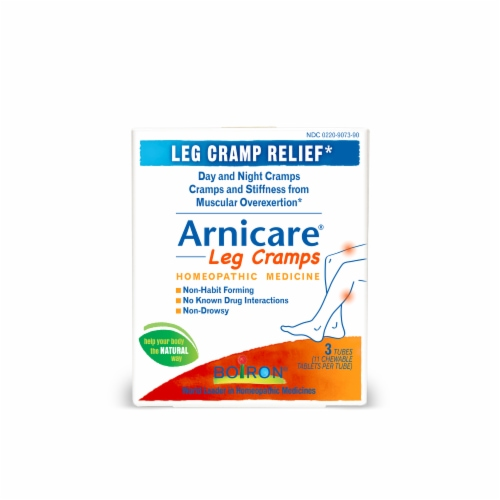Boiron Arnicare Leg Cramps Homeopathic Tablets Perspective: front