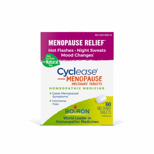 Boiron Cyclease Menopause Relief Tablets Perspective: front