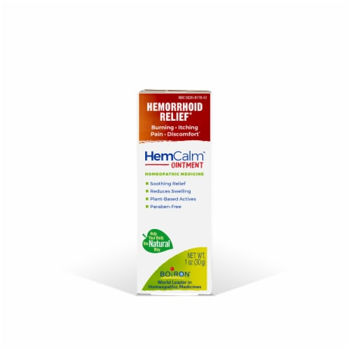 Boiron HemCalm Hemorrhoid Ointment Perspective: front