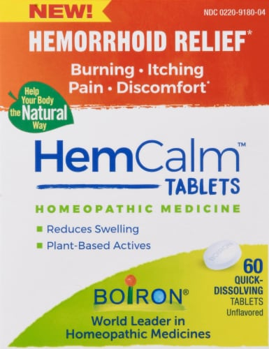 Boiron HemCalm Tablets Perspective: front