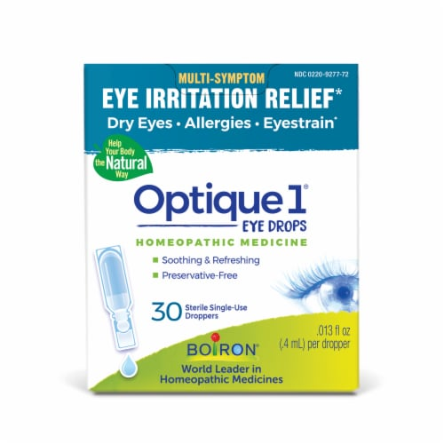 Boiron Optique1 Eye Irritation Relief Homeopathic Eye Drops Perspective: front