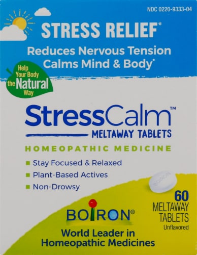 Boiron StressCalm™ Meltaway Tablets Perspective: front
