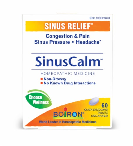 Boiron® SinusCalm Quick-Dissolving Tablets Perspective: front