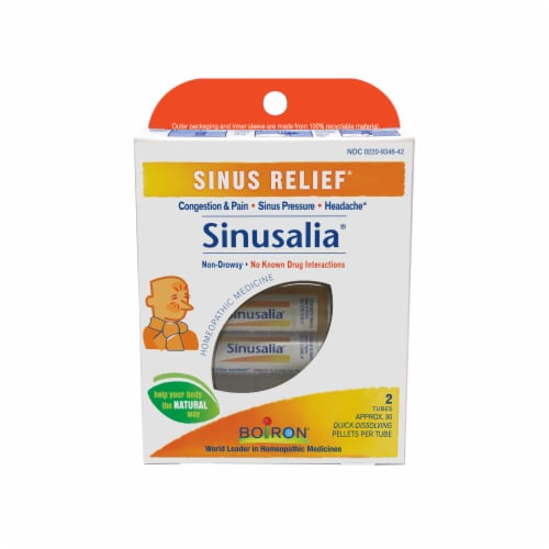 Boiron Sinusalia Sinus Relief Tablets Perspective: front