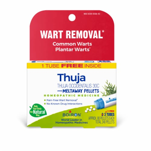 Boiron Thuja Occidentalis 30C Wart Removal Pellets Perspective: front