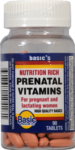 Basic Prenatal Vitamins Formula Perspective: front