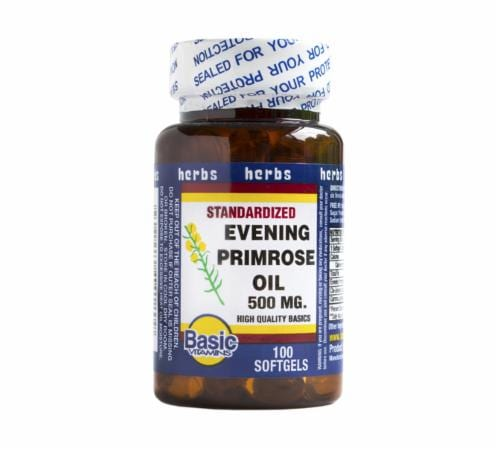 Basic Evening Primrose Oil Softgels 500mg Perspective: front