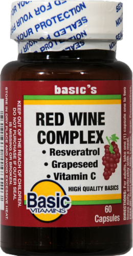 Basic Red Wine Complex Capsules Perspective: front