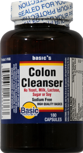 Basic Colon Cleanser Capsules Perspective: front