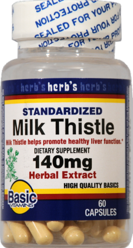 Basic Milk Thistle 140mg Perspective: front