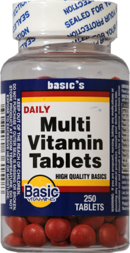 Basic Daily Multi-Vitamin Tablets Perspective: front