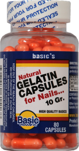 Basic Gelatin Capsules Perspective: front