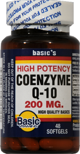 Basic CoQ10 200mg Soft Gels Perspective: front