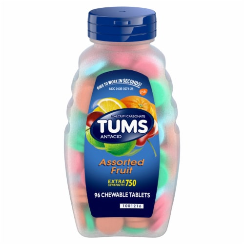 Tums Assorted Fruit Extra Strength Antacid Tablets Perspective: front