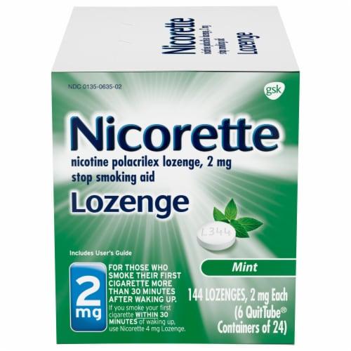 Nicorette Mint Lozenge 2 mg Perspective: front