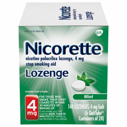 Nicorette Mint Nicotine Lozenges 4mg Perspective: front