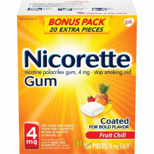 Nicorette Fruit Chill Nicotine Gum 4mg Bonus Pack Perspective: front