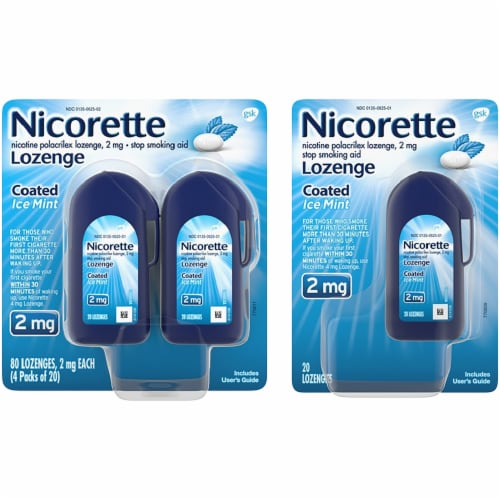 Nicorette Coated Ice Mint Lozenges 2mg Perspective: front