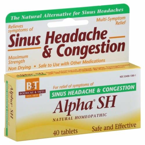Boericke & Tafel Alpha SH Sinus Headache & Congestion Tablets Perspective: front