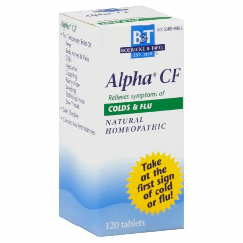 Boericke & Tafel Alpha CF Cold & Flu Perspective: front