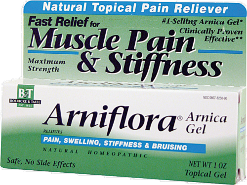 Boericke & Tafel Arniflora Muscle Pain & Stiffness Relief Arnica Gel Perspective: front