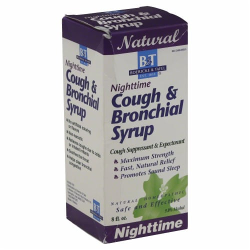 Boericke & Tafel Nighttime Cough Bronchial Syrup Perspective: front