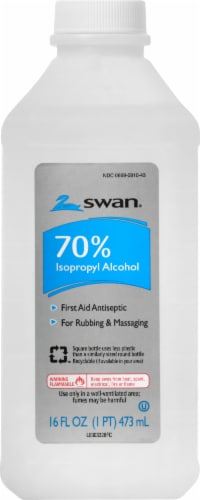 Swan 70% Isopropyl Alcohol First Aid Antiseptic Perspective: front