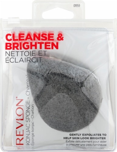 Revlon Cleanse & Brighten Charcoal Konjac Sponge Perspective: front