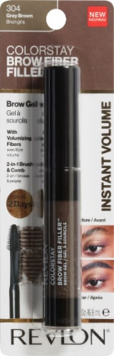 Revlon ColorStay Gray Brown Fiber Filler Brow Gel Perspective: front